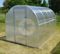 Levný polykarbonátový skleník 2 x 4 m