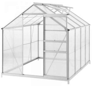 Levný zahradní skleník z hliníku a polykarbonátu