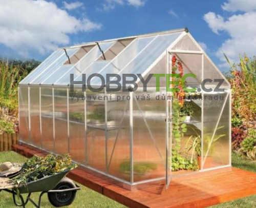 Prostorný zahradní skleník polykarbonátové sklo