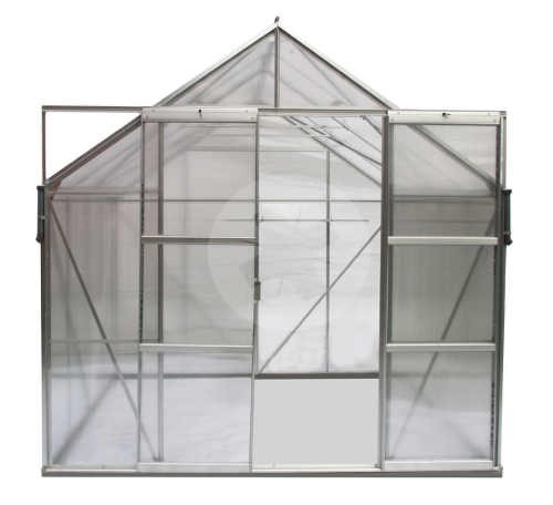 Velké dvoukřídlé posuvné dveře skleníku