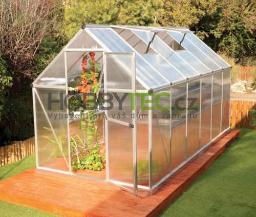 Velký zahradní skleník z polykarbonátu