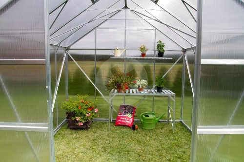 Vždy krásně prosvětlený zahradní skleník