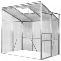 Boční hliníkový polykarbonátový zahradní skleník