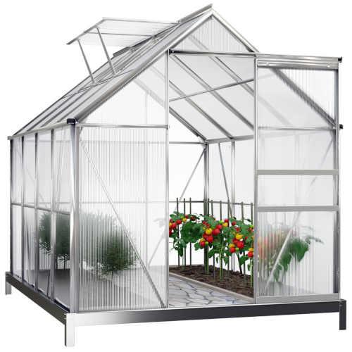 Hliníkový polykarbonátový skleník se základnou