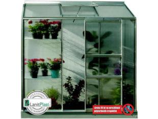 Malý skleník z hliníku a polykarbonátu