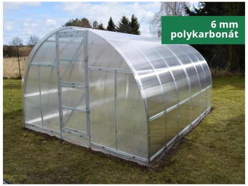 Zahradní obloukový skleník z polykarbonátu