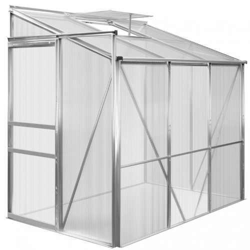 boční skleník z hliníku a polykarbonátu