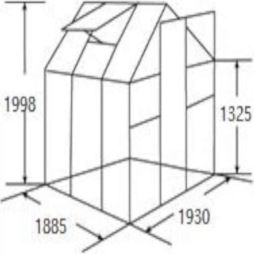 kvalitní skleník z hliníku a polykarbonátového materiálu