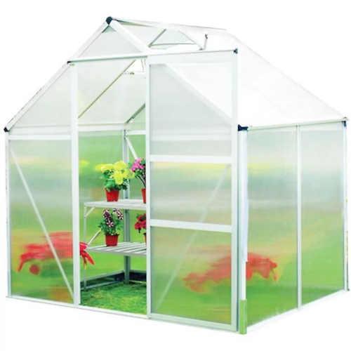 polykarbonátový skleník se základnou