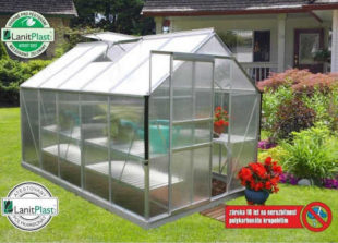 polykarbonátový zahradní skleník se základnou