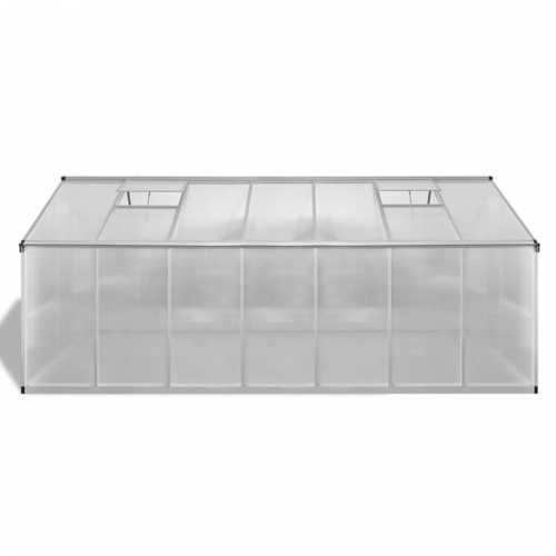 praktický a prostorný hliníkový skleník