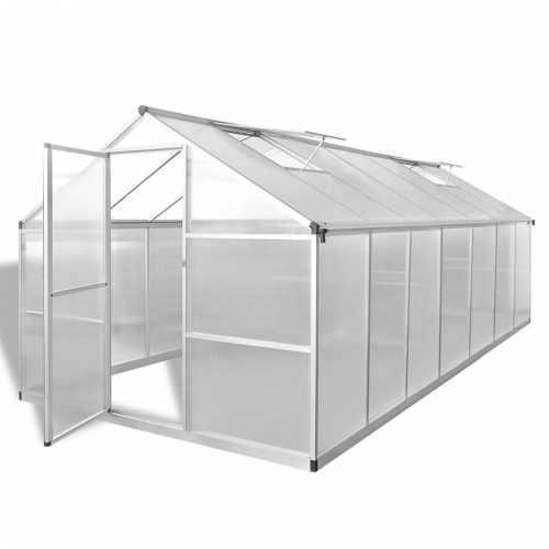 skleník s hliníkovou konstrukcí