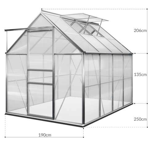 skleník se základnou polykarbonátový do zahrady