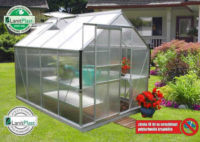 Polykarbonátový skleník stříbrný TARGET 5000 1,9 x 2,5 metru