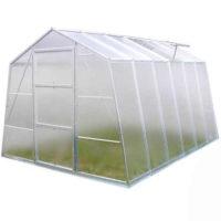 Skleněný praktický zahradní skleník 1,85 m x 2,4 m x  3,18 m
