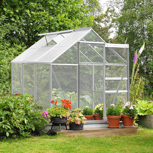 hliníkový polykarbonátový zahradní skleník