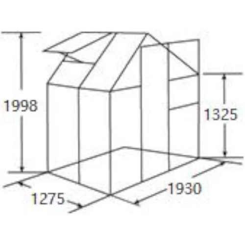 skleník Baumax 193x127 cm