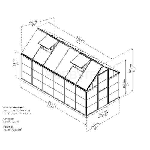 skleník hybrid palram 6x12