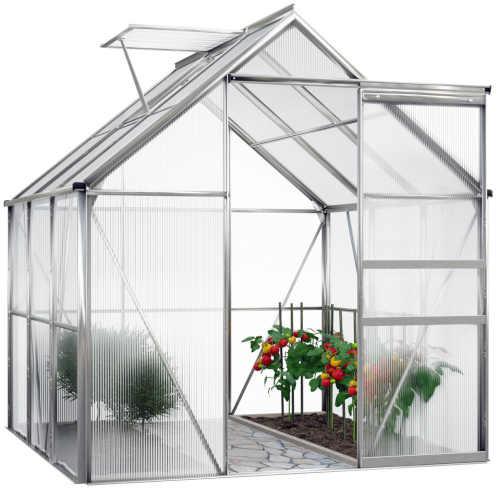 skleník z polykarbonátu a hliníkové konstrukce