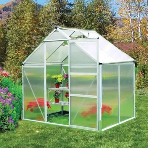 zahradní praktický polykarbonátový skleník Baumax